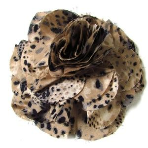 Chico's Maslen Animal Print Flower Magnetic Brooch